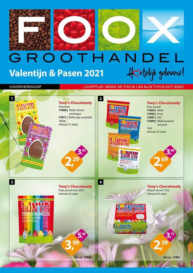 Voorverkoop Valentijn & Pasen 2021